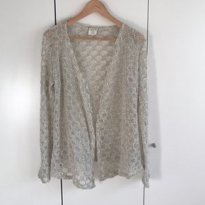 Anthropologie Crochet Open Sweater